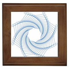 Spirograph Spiral Pattern Geometric Framed Tiles by Nexatart