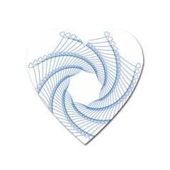 Spirograph Spiral Pattern Geometric Heart Magnet by Nexatart