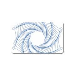 Spirograph Spiral Pattern Geometric Magnet (name Card) by Nexatart