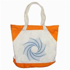 Spirograph Spiral Pattern Geometric Accent Tote Bag by Nexatart