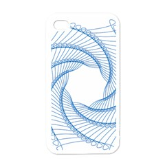 Spirograph Spiral Pattern Geometric Apple iPhone 4 Case (White)