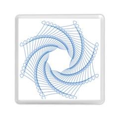 Spirograph Spiral Pattern Geometric Memory Card Reader (square)  by Nexatart
