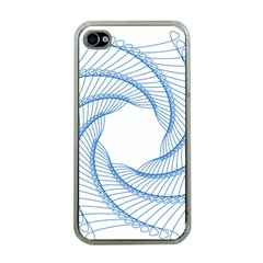 Spirograph Spiral Pattern Geometric Apple Iphone 4 Case (clear) by Nexatart