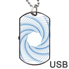 Spirograph Spiral Pattern Geometric Dog Tag Usb Flash (one Side) by Nexatart