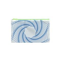 Spirograph Spiral Pattern Geometric Cosmetic Bag (xs) by Nexatart