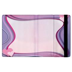 Background Image Greeting Card Heart Apple Ipad 3/4 Flip Case by Nexatart