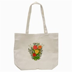 Roses Flowers Floral Flowery Tote Bag (cream) by Nexatart