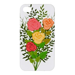 Roses Flowers Floral Flowery Apple Iphone 4/4s Hardshell Case by Nexatart