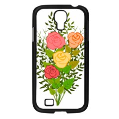 Roses Flowers Floral Flowery Samsung Galaxy S4 I9500/ I9505 Case (black) by Nexatart