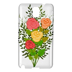 Roses Flowers Floral Flowery Samsung Galaxy Note 3 N9005 Hardshell Case by Nexatart