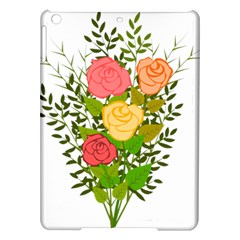Roses Flowers Floral Flowery Ipad Air Hardshell Cases by Nexatart