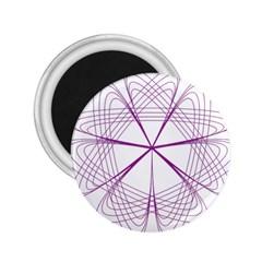 Purple Spirograph Pattern Circle Geometric 2 25  Magnets by Nexatart