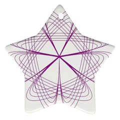 Purple Spirograph Pattern Circle Geometric Star Ornament (two Sides) by Nexatart