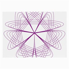 Purple Spirograph Pattern Circle Geometric Large Glasses Cloth (2 Side) by Nexatart