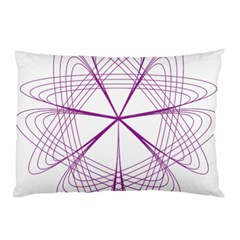 Purple Spirograph Pattern Circle Geometric Pillow Case by Nexatart