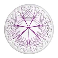 Purple Spirograph Pattern Circle Geometric Ornament (round Filigree) by Nexatart