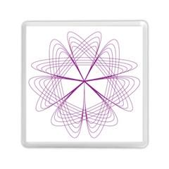 Purple Spirograph Pattern Circle Geometric Memory Card Reader (square)  by Nexatart