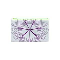 Purple Spirograph Pattern Circle Geometric Cosmetic Bag (xs) by Nexatart