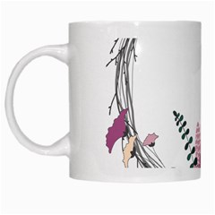 Flowers Twig Corolla Wreath Lease White Mugs by Nexatart