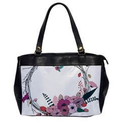 Flowers Twig Corolla Wreath Lease Office Handbags by Nexatart