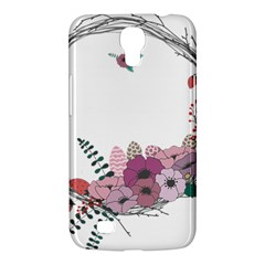Flowers Twig Corolla Wreath Lease Samsung Galaxy Mega 6 3  I9200 Hardshell Case by Nexatart