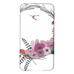 Flowers Twig Corolla Wreath Lease Samsung Galaxy S5 Back Case (white) by Nexatart