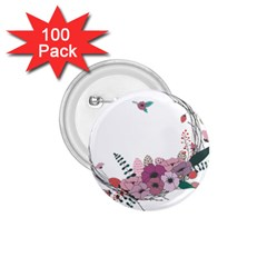 Flowers Twig Corolla Wreath Lease 1 75  Buttons (100 Pack)  by Nexatart