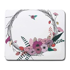 Flowers Twig Corolla Wreath Lease Large Mousepads by Nexatart