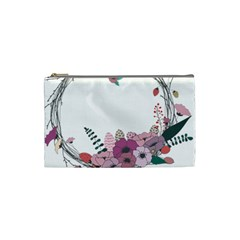 Flowers Twig Corolla Wreath Lease Cosmetic Bag (small)  by Nexatart