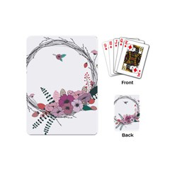 Flowers Twig Corolla Wreath Lease Playing Cards (mini)  by Nexatart