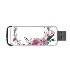 Flowers Twig Corolla Wreath Lease Portable Usb Flash (two Sides) by Nexatart
