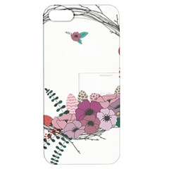 Flowers Twig Corolla Wreath Lease Apple Iphone 5 Hardshell Case With Stand by Nexatart