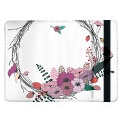 Flowers Twig Corolla Wreath Lease Samsung Galaxy Tab Pro 12 2  Flip Case by Nexatart
