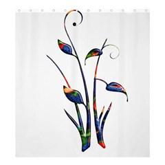 Flora Abstract Scrolls Batik Design Shower Curtain 66  X 72  (large)  by Nexatart