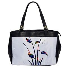 Flora Abstract Scrolls Batik Design Office Handbags by Nexatart