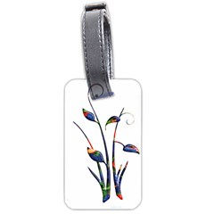 Flora Abstract Scrolls Batik Design Luggage Tags (two Sides) by Nexatart