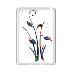 Flora Abstract Scrolls Batik Design Ipad Mini 2 Enamel Coated Cases by Nexatart