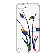 Flora Abstract Scrolls Batik Design Apple Ipod Touch 5 Hardshell Case With Stand by Nexatart