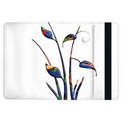 Flora Abstract Scrolls Batik Design Ipad Air Flip by Nexatart