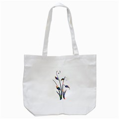 Flora Abstract Scrolls Batik Design Tote Bag (white) by Nexatart