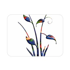 Flora Abstract Scrolls Batik Design Double Sided Flano Blanket (mini)  by Nexatart
