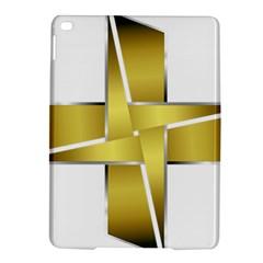 Logo Cross Golden Metal Glossy Ipad Air 2 Hardshell Cases by Nexatart