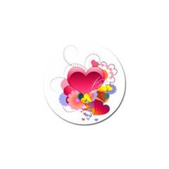 Heart Red Love Valentine S Day Golf Ball Marker by Nexatart