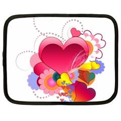 Heart Red Love Valentine S Day Netbook Case (xl)