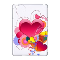 Heart Red Love Valentine S Day Apple Ipad Mini Hardshell Case (compatible With Smart Cover) by Nexatart