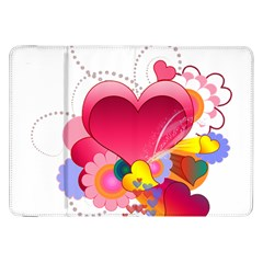 Heart Red Love Valentine S Day Samsung Galaxy Tab 8 9  P7300 Flip Case by Nexatart