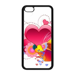 Heart Red Love Valentine S Day Apple Iphone 5c Seamless Case (black) by Nexatart