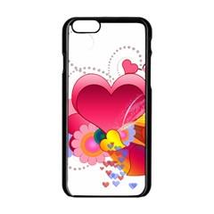 Heart Red Love Valentine S Day Apple Iphone 6/6s Black Enamel Case by Nexatart