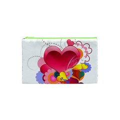 Heart Red Love Valentine S Day Cosmetic Bag (xs) by Nexatart