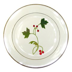 Element Tag Green Nature Porcelain Plates by Nexatart